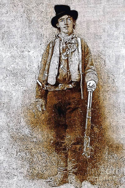 Gunslinger Photograph - Billy The Kid 20130211v3 by Wingsdomain Art and Photography