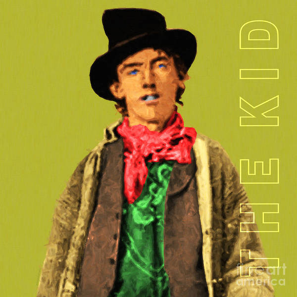 Photograph - Billy The Kid 20130518 Square With Text by Wingsdomain Art and Photography