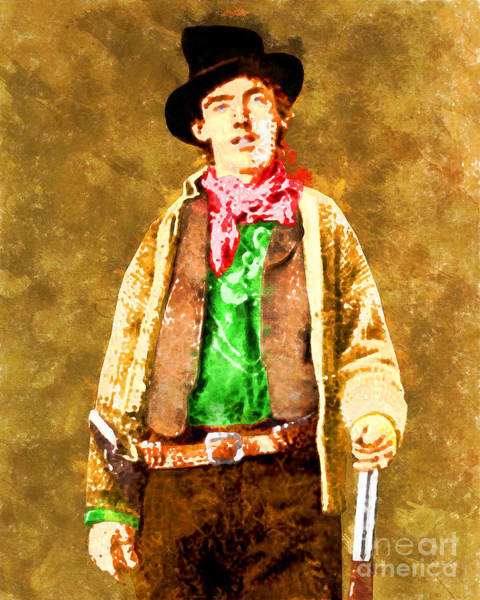 Photograph - Billy The Kid 20130518wc V1 by Wingsdomain Art and Photography