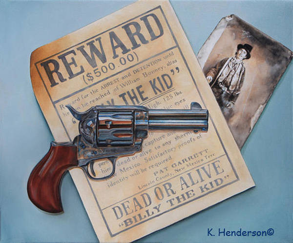 Wall Art - Painting - Billy The Kid By K Henderson by K Henderson