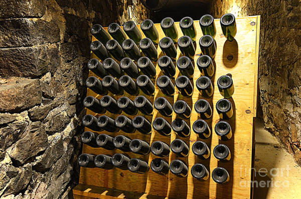Asheville Wall Art - Photograph - Biltmore Estate Wine Cellar -stored Wine Bottles by Luther Fine Art