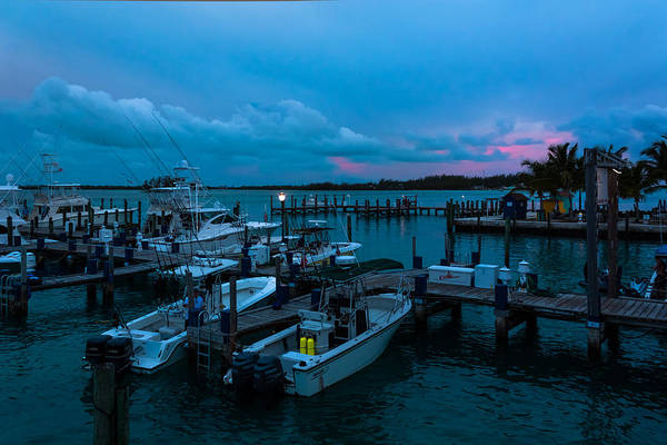 Bimini Big Game Club Docks After Sundown Art Print