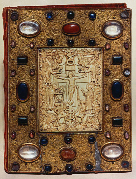 Wall Art - Photograph - Binding Plate Of Crucifixion, C800s by Granger