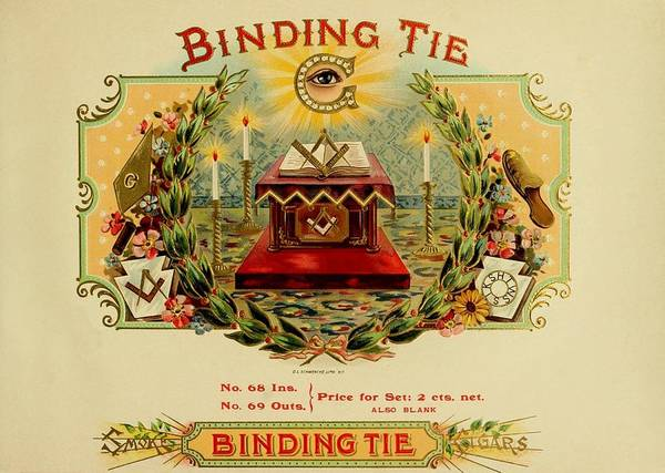 Painting - Binding Tie Vintage Cigar Advertisement by Movie Poster Prints