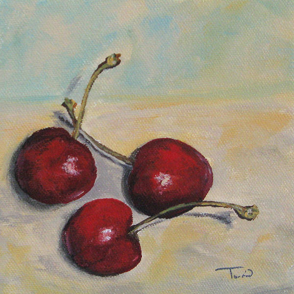 Wall Art - Painting - Bing Cherries by Torrie Smiley