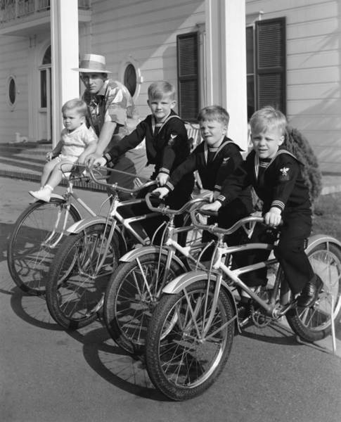 Photograph - Bing Crosby And His Boys by Underwood Archives