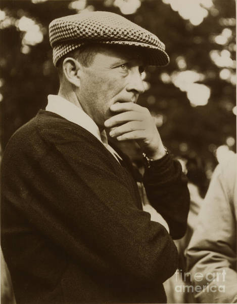 Photograph - Bing Crosby At Pebble Beach California Jan. 14 1950 by California Views Archives Mr Pat Hathaway Archives