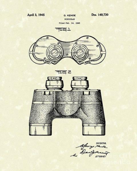 Drawing - Binocular 1945 Patent Art by Prior Art Design