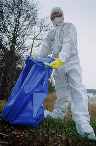 Protective Clothing Photograph - Biochemical Protection Suit by David Hay Jones/science Photo Library