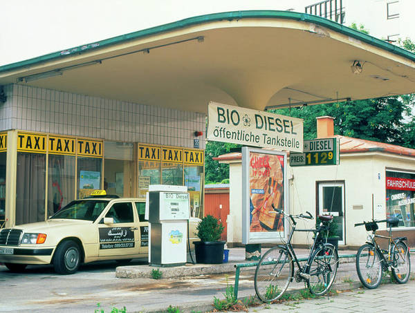 Wall Art - Photograph - Biodiesel Filling Station In Germany by Martin Bond/science Photo Library