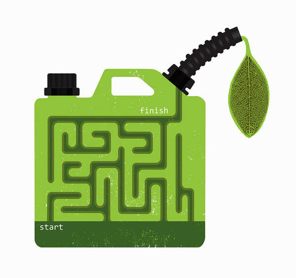 Wall Art - Photograph - Biofuel Gasoline Can With Start by Ikon Ikon Images