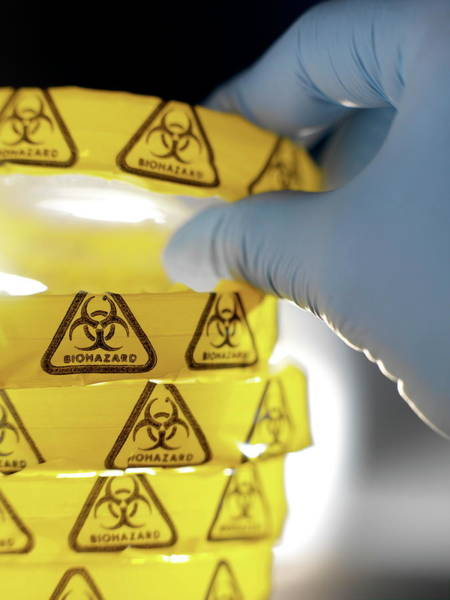 Wall Art - Photograph - Biohazard Warning by Tek Image/science Photo Library