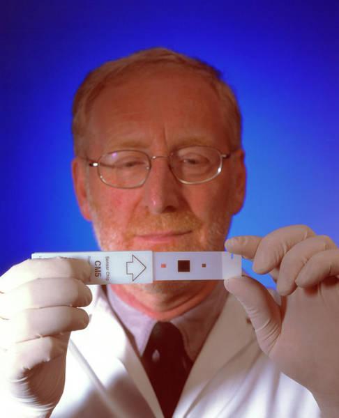Technician Photograph - Biosensor by Medical School, University Of Newcastle Upon Tyne/simon Fraser/science Photo Library