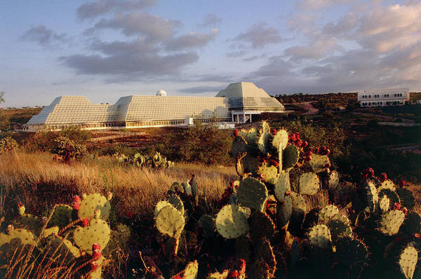 Ecosystem Photograph - Biosphere 2 Buildings by Peter Menzel/science Photo Library