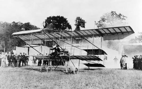 Wall Art - Photograph - Biplane, 1910 by Granger