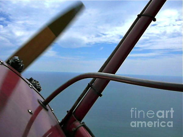 Squid Row Photograph - Biplane In Flight South Beach Katama by Matt Dana