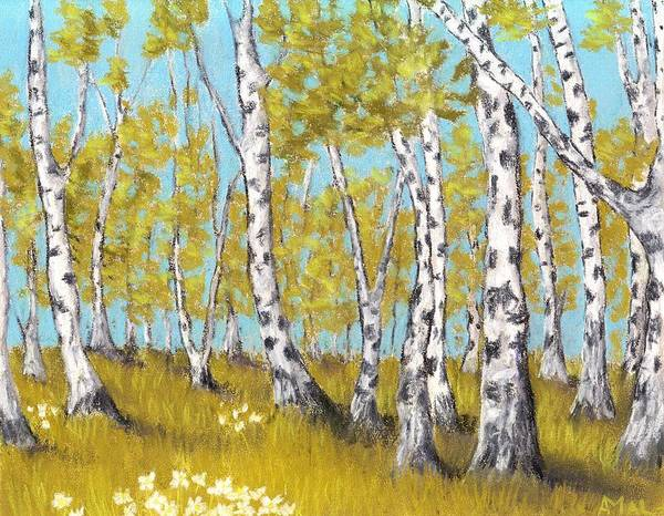 Painting - Birch Grove by Anastasiya Malakhova