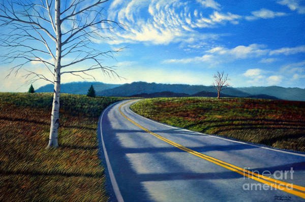 Painting - Birch Tree Along The Road by Christopher Shellhammer