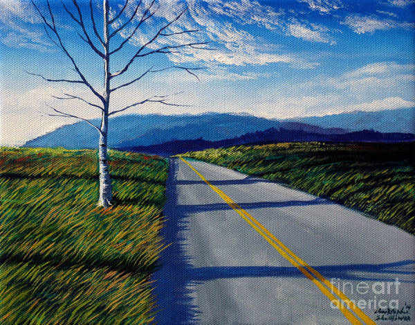 Painting - Birch Tree Along The Road Number 2 by Christopher Shellhammer