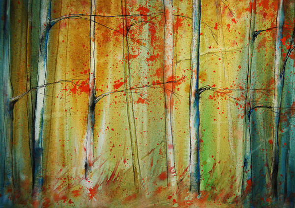 Painting - Birch Tree Forest I by Jani Freimann