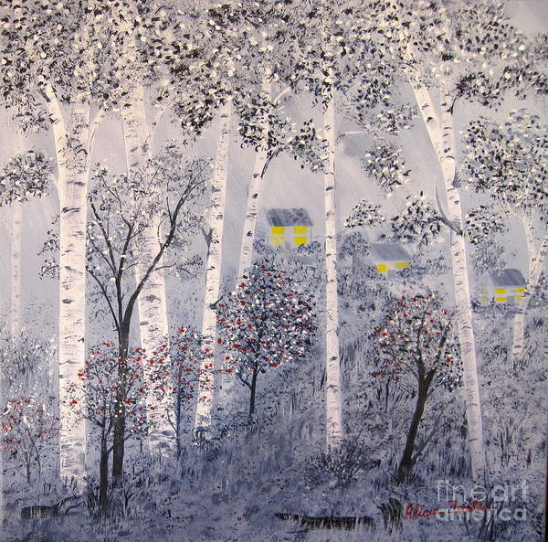 Painting - Birch Trees by Alicia Fowler