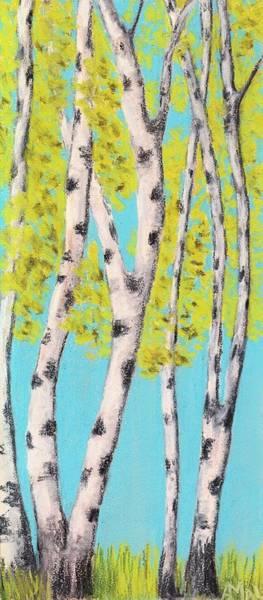Painting - Birch Trees by Anastasiya Malakhova