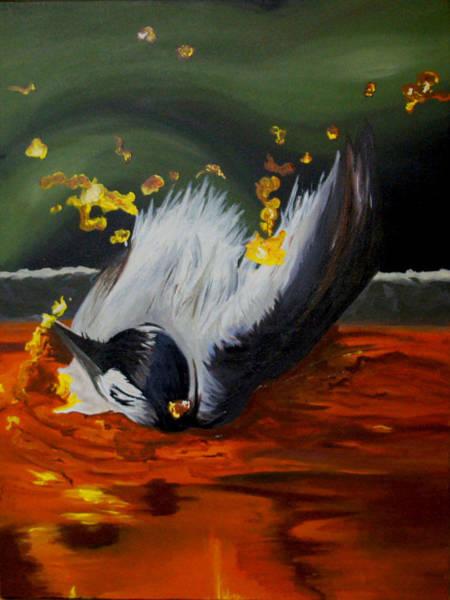 Alcoholism Painting - Bird Bath by Ashley Nesbit