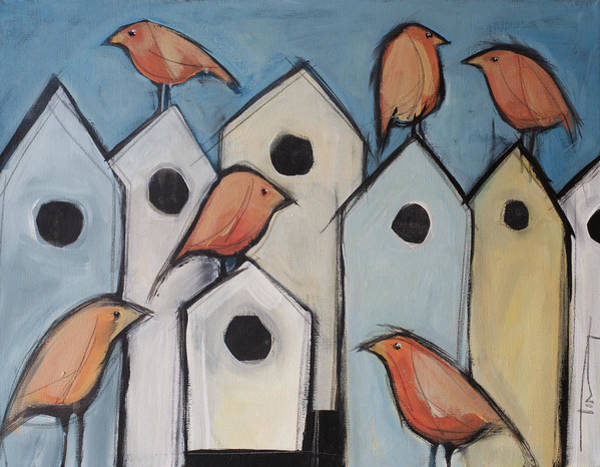 Wall Art - Painting - Bird Condo Association by Tim Nyberg