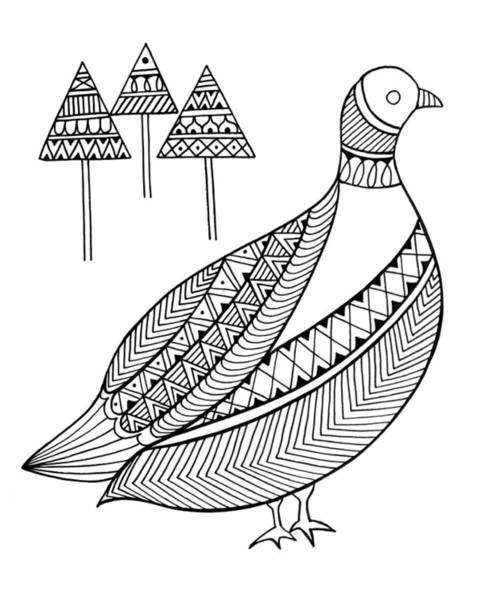 Intricate Drawing - Bird Duck by MGL Meiklejohn Graphics Licensing