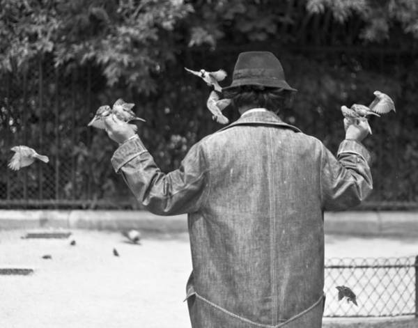 Photograph - Bird Man - Paris People Series by Georgia Fowler