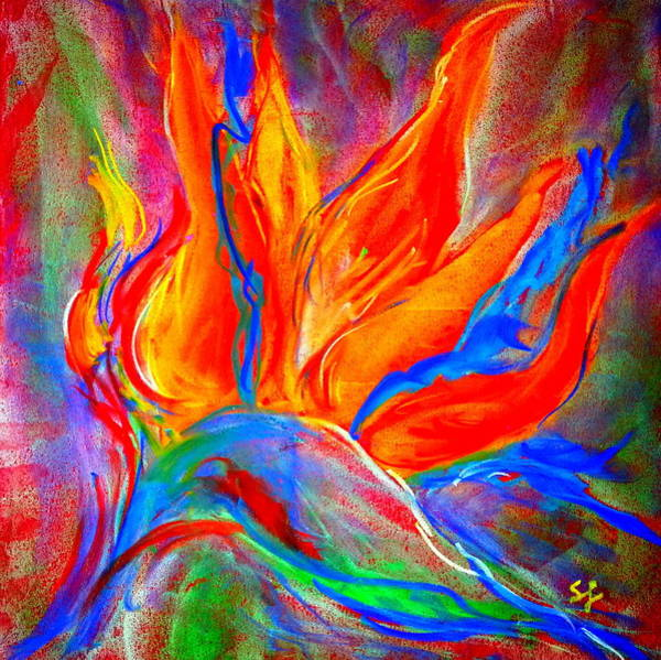 Wall Art - Painting - Bird Of Paradise Flower by Sue Jacobi