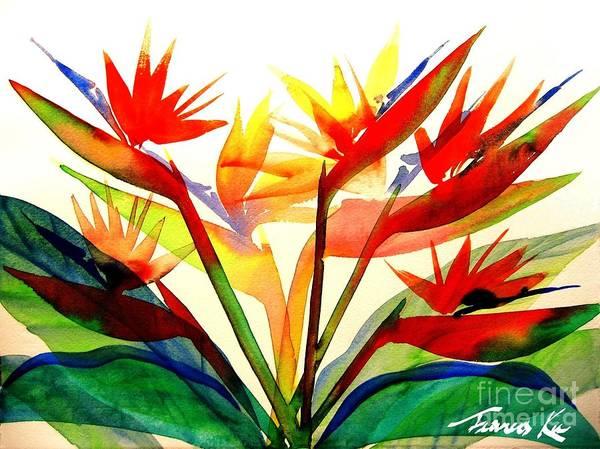 Painting - Bird Of Paradise by Frances Ku