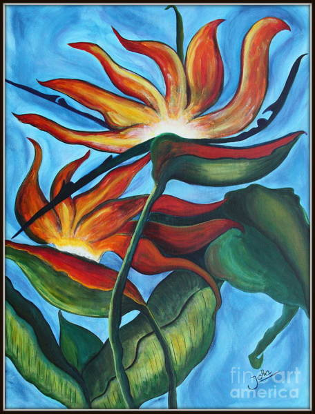 Painting - Bird Of Paradise by Jolanta Anna Karolska