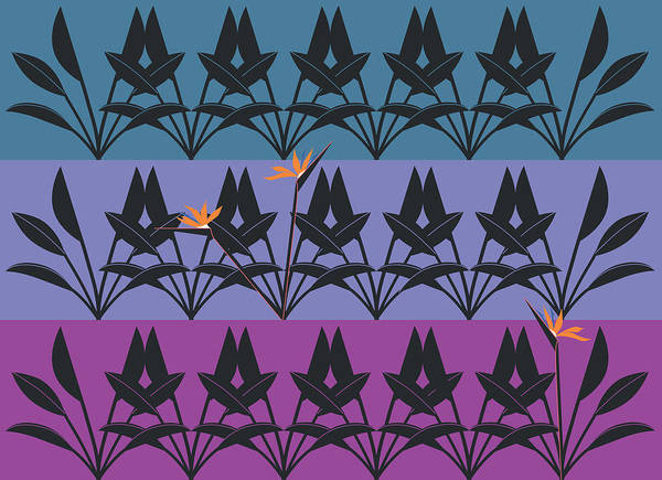 Digital Art - Bird Of Paradise Pattern by Marie Sansone