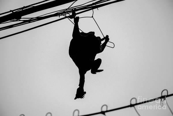 Wall Art - Photograph - Bird On A Wire by Dean Harte