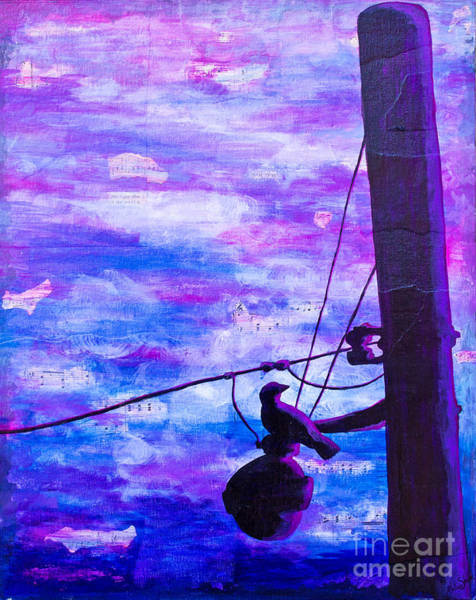 Painting - Bird On A Wire by Melissa Sherbon