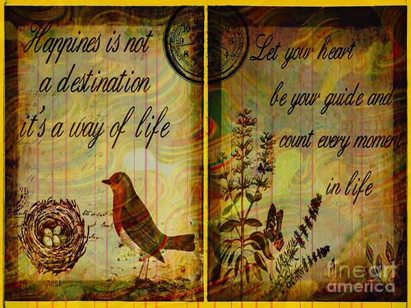 Chicago River Digital Art - Bird Poster Illustration Vintage Modern Look Mixed Media Digital Artwork by Art World