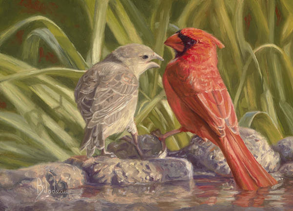 Young Painting - Bird Talk by Lucie Bilodeau