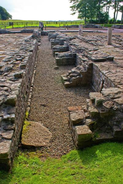 Roman Wall Photograph - Birdoswald Roman Fort by Mark Williamson