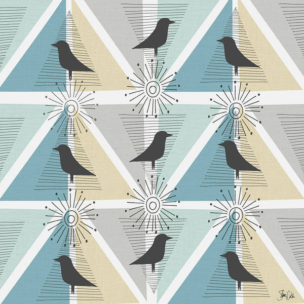 Wall Art - Painting - Birds & Triangles I by Shanni Welsh