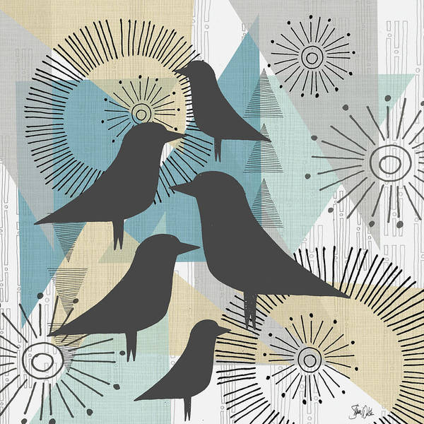 Wall Art - Painting - Birds & Triangles II by Shanni Welsh