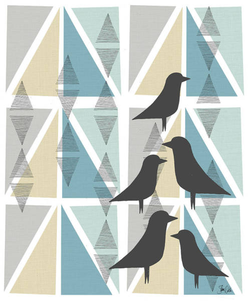 Wall Art - Painting - Birds & Triangles Iv by Shanni Welsh