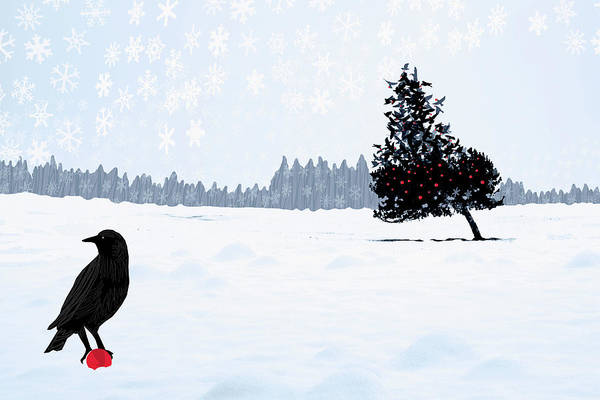 Event Digital Art - Birds Building And Decorate A Tree For by Andrew Bret Wallis