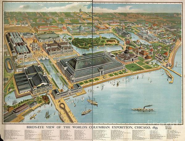 Fair Photograph - Bird's Eye View Of The World's Columbian Exposition Chicago 1893 by Edward Fielding