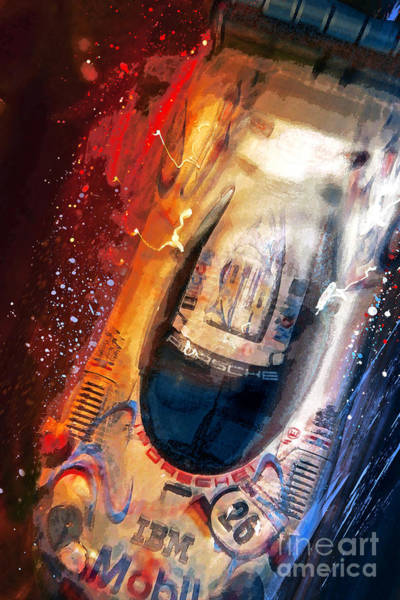 Le Mans Mixed Media - Birds Eye View To A Win by Alan Greene