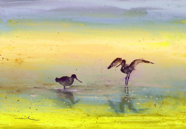 Painting - Birds In The Camargue 03 by Miki De Goodaboom