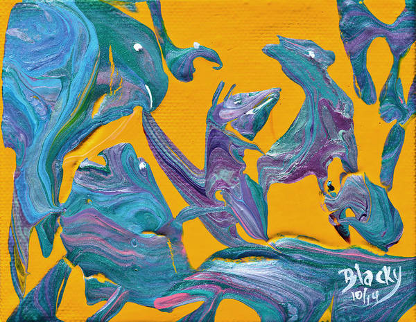 Wall Art - Painting - Birds In The Hood by Donna Blackhall