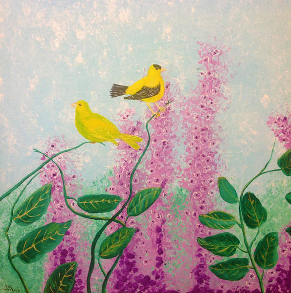 Painting - Birds by M Valeriano