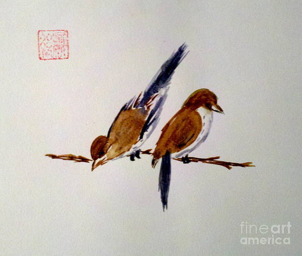 Painting - Birds Of A Feather by Margaret Welsh Willowsilk