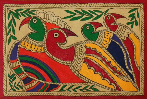 Wall Art - Drawing - Birds Of A Feather by Neha Dasgupta